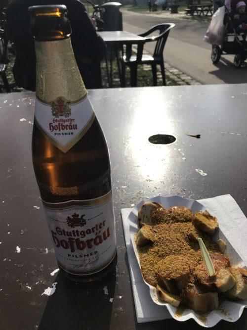 Bier mit Currywurst - beendetes Mal beim Spaziergang um 16.02 Uhr ;)