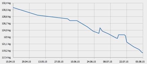 Gewichtsverlauf seit April 2015
