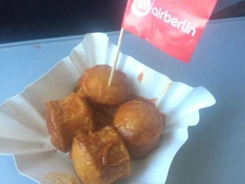 Sansibar Currywurst bei Air Berlin