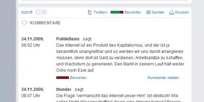 """erster Kommentar zu """"Jauch und Schirrmacher scheitern am Internet"""""""